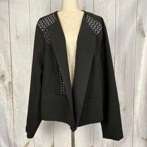 Torrid Plus Size Black Blazer with Grommet Detail